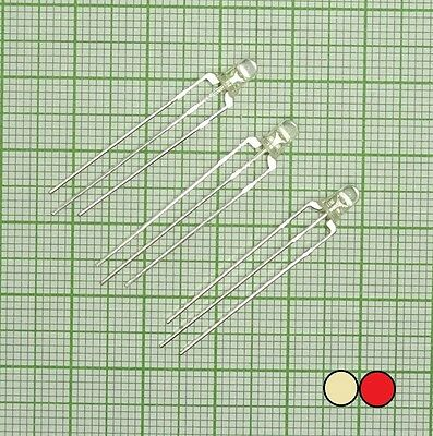 10X DUO Bi-Color Led (3mm, rot - warm Weiß, 3-polig, common anode)  - E207
