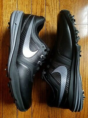 18d895c7f4e2 NEW Nike Lunar Command Men s Golf Shoes SIZE 8 Medium Black Silver 704427 -001