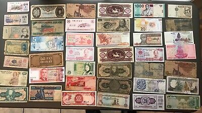 Vintage world currency - Giant Lot - Over 40 pieces of Currency