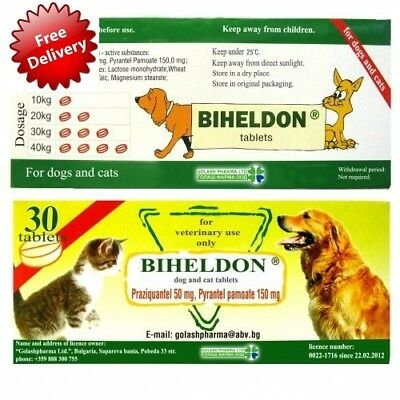 Dog / Cat / Puppy Wormer Broad Spectrum Dewormer, Woming Tabs Exp:11.2021