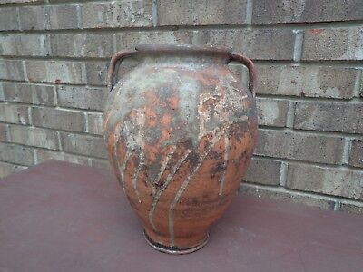Rare Antique French Pot 19Th Century Terracotta Confit Pot Or General Use Pot