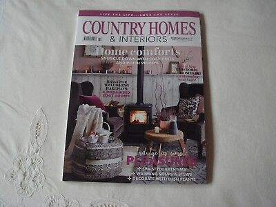 Country Homes & Interiors Magazine February 2019 In Perfect Clean Condition