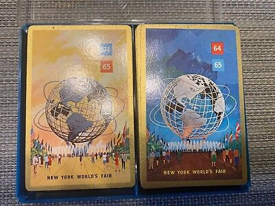 Stancraft New York Worlds Fair 1964  Playing Cards Two Complete Sets EUC!