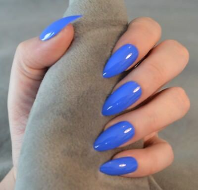 FALSE NAILS - Bright Blue - Glue On - The Holy Nail