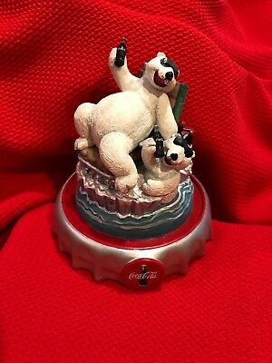Coca-Cola Polar Bears Iceberg Break 1996 Christmas Ornament