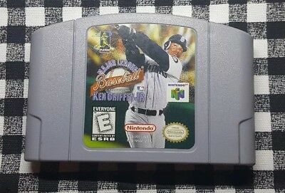 bb0a2ae5f5 Major League Baseball Featuring Ken Griffey Jr. (Nintendo 64 1998) N64 MLB  Cart