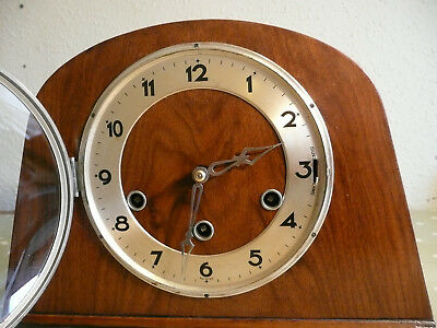 HALLER WESTMINSTER CHIMING MANTEL or MANTLE CLOCK PERFECT WORKING ORDER.