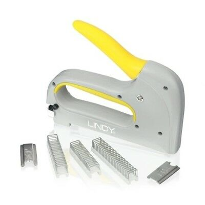 Lindy Light Duty Cable Tacker Staple Gun For Round And Flat Cable