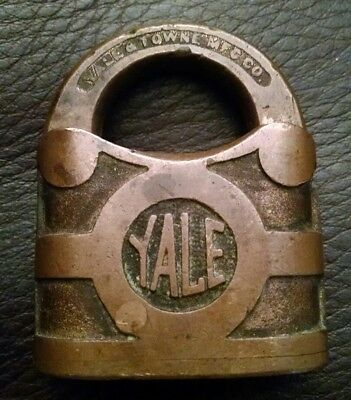 Vintage Antique Yale Padlock No Key Yale & Towne Mfg Co Stamford Ct Usa