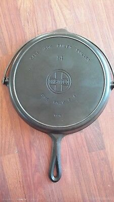 Rare GRISWOLD 14 Cast Iron Bailed Skillet