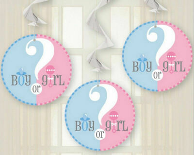 Gender Reveal Decorating Kit - Swirls Great for Baby Shower Decorations  (#T015)