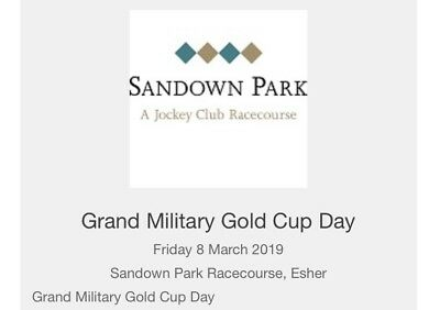 2 X Tickets Sandown Racecourse Grandstand & Paddock Grand Military Day 8/3/19