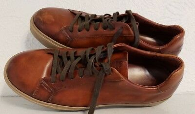 c5727a2ed Magnanni for Bergdorf Goodman Mens Size 46 EU 12 US Brown Leather Sneakers  Shoes
