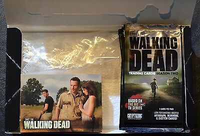 Cryptozoic Walking Dead Season 2 Complete Base Set, Box, Wrappers Trading Cards