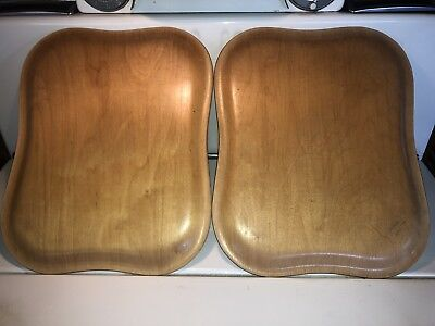 A Pair of Molded Soinne Plywood Trays Designed by Tapio Wirkkala from Finland