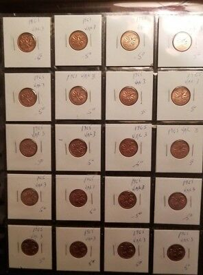 20 x Canadian 1 Cents OF YOUR CHOICE in BRILLIANT UNCIRCULATED (BU) Condition