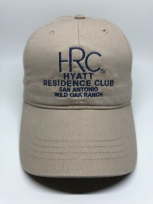 HRC Hyatt San Antonio Wild Oak Ranch Cap Hat Adult Adjustable Beige 100% Cotton