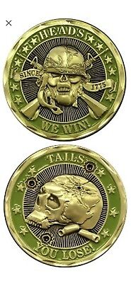 Heads We Win! Tails You Lose! Challenge Coin! FREE SHIPPING! 2nd FREE COIN! LOOK