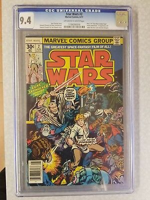 Marvel Star Wars #2, August 1977, CGC NM 9.4, First Print