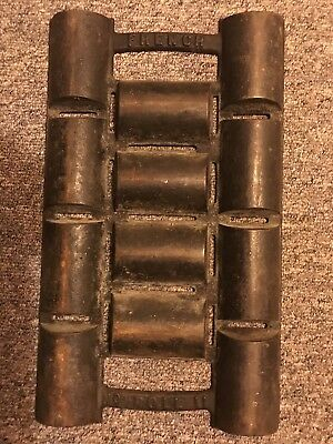 "Antique # 11 French Roll Pan ""H"" Frame New England  Cast Iron  Corn Bread Pan"