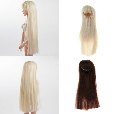 BJD Doll Wig Hairpiece 1/4 Straight Wigs Straight Hair for Dollfie Accessory