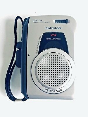 Radio Shack Voice Activated Handheld Cassette Player / Recorder - CTR-124