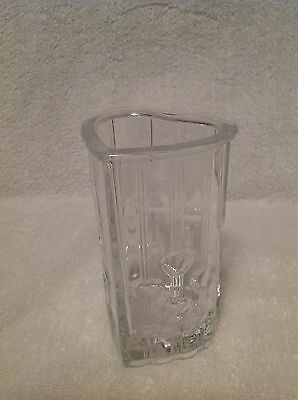 Vintage AVON Fostoria Heart Shaped Clear Glass Vase 1985 Collectible~~ LOVELY!