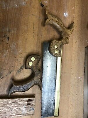 Vintage Onion & Co Brass Backed Dovetail Saw 16 TPI Very Clean And Sharp