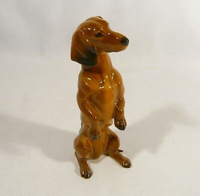 "5 "" DACHSHUND  DOG Figurine ROSENTHAL Classic Rose 275 Dashound"