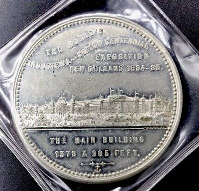 Large Antique 1884 New Orleans Cotton Exposition Coin Worlds Fair Louisiana