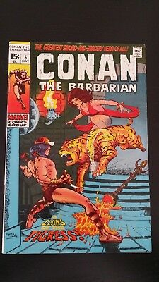 1971 Marvel Comics Conan The Barbarian #5 Flat Rate S/h
