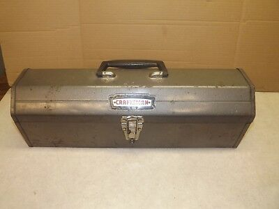 Vintage Craftsman Metal Tool Box with Tray 65161 Tombstone Hip Roof Sears