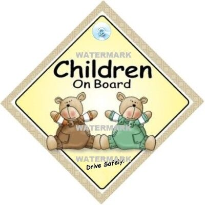 Children On Board - Traditional - Made In Australia - Suction Cup - Freepost