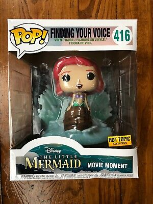 """Funko Pop Disney 6"""" Little Mermaid Movie Moment Finding Your Voice Hot Topic Exc"""