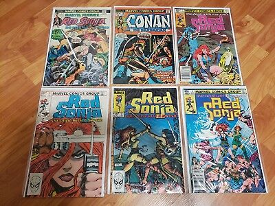 Conan the barbarian 23 First appearance of Red Sonja with 5 more #1 and #2 books