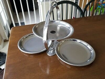 Alessi Anna Gong 3 Plate Folding Cake Stand