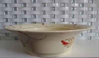 Vintage Myott Son Co. Handled Vegetable Soup Bowl England Hand Painted GG 1810 F