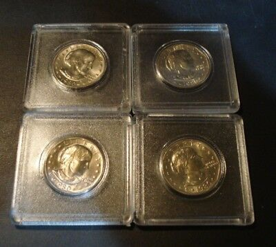 Lot Of 4 1980-S Uncirculated  Susan B Anthony Dollars