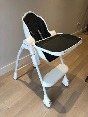 Oribel High Chair (Gray and White) brand new, stylish and comfortable