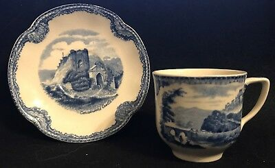 Johnson Brothers OLD BRITAIN CASTLES BLUE Demitasse Cup & Saucer