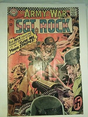 Army at War #176  1966 Silver Age Sgt. Rock rare. See pics for condition