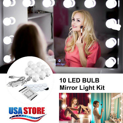 Mirror Lights Make up LED Hollywood Kit Bulbs Wall Vanity Light Dimmable Lights