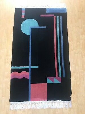 Original 1930's Art Deco Hand Knotted Modernist Rug Art deco