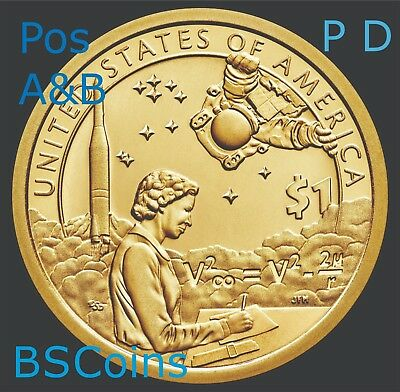 2019 P&D Pos A&B NATIVE AMERICAN Sacagawea SPACE Dollar 4 Coin set - PRESALE