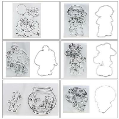Transparent Clear Silicone Stamp Seal for DIY Scrapbooking Photo Album Decor