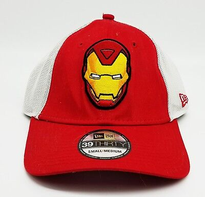 45d6dbf62f6 Iron Man Marvel MCU Red New Era 39Thirty Stretch Fit Cap Hat MSRP  25 NEW!