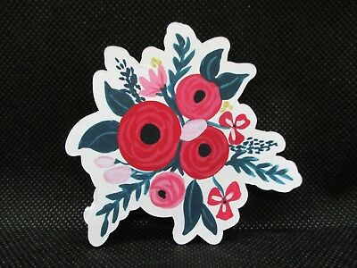 6 Printed Floral Bouquet Of Flowers  Die Cuts......style 1....cardmaking