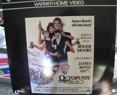 """Laser Disc -*JAMES BOND* Double Disc Feature: """"OCTOPUSSY"""" in VG Plus condition"""