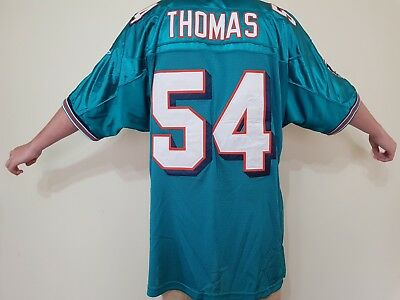NFL Jersey #54 Zach Thomas Miami Dolphins Home Size 52 XL