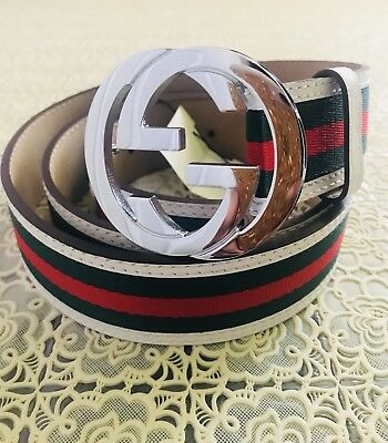 c5a2916dc21 NWT Authentic Gucci Signature web belt with G buckle 90cm waist Fits 30-32